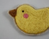 wool felted chick applique needle felted applique