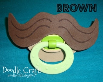 Baby Infant Toddler Binky pacifier soother MUSTACHE slipcover removable accessories moustache