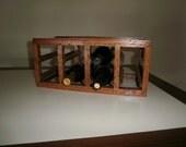 old wood wine rack