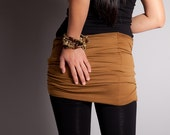 Caramel Brown Skirt for Leggings // Scarf // Belt or Bandeau Bra Top  // MIRACLE TWIST// Size Medium // Jersey