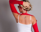 Red Suspender Arm Warmers // Sleeves // Size XSmall