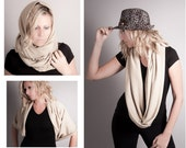 Infinity Scarf Oversized-Chunky Cowl-Winter Circle Scarf- Eternity Scarf-Angora Jersey 5in1 Winter Wrap-Oversized Snood-Vegan by MoonHalo