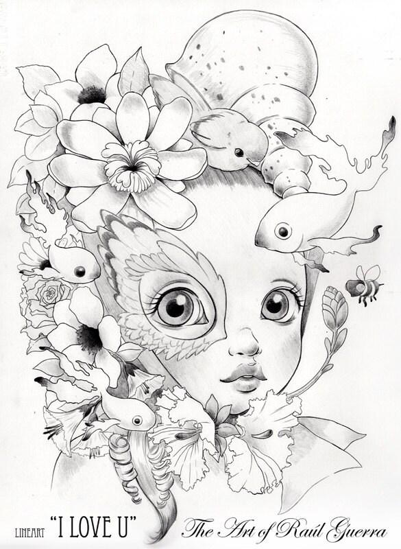 i love u original drawing