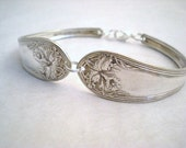 ORCHID ONE 1911 - Spoon Bracelet Antique Upcycled Silverplate - Silverware Jewelry