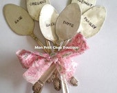 PICK 6 Garden Markers - 6 PC Set personalized / custom - Upcycled Vintage Silverplated Spoon