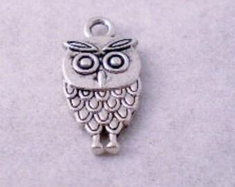 ADD A CHARM - Owl Charm, Silver Color, Make your spoon bracelet unique