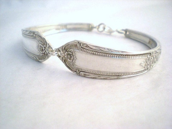 COTILLION 1937 - Spoon Bracelet Vintage Upcycled Silverplate - Silverware Jewelry