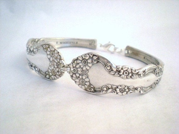 HARDWICK 1908 - Antique Spoon Bracelet Upcycled Silverplate - Silverware Jewelry