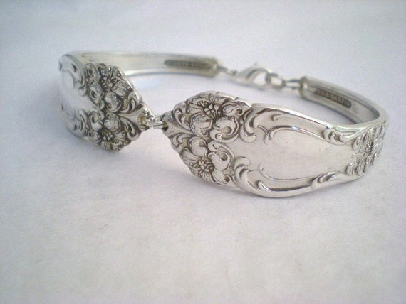 tiger lily 1901 antique upcycled silverplate spoon bracelet