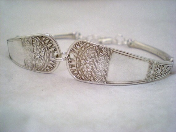 Spoon Bracelet, Antique Silverware, Victorian Jewelry, Something Old  WESTMINSTER 1902