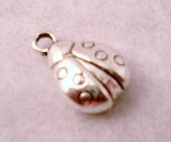 ADD A CHARM - Ladybug Charm, Silver Color, Make your spoon bracelet unique