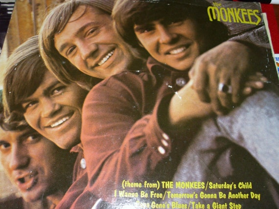 The Monkees Historic First Album 1966 33 Rpm Vintage Lp