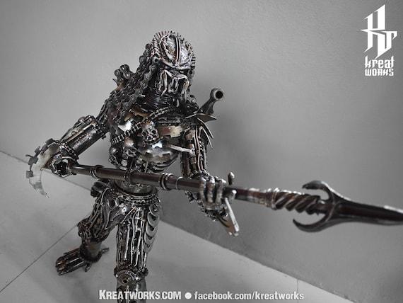 Steampunk Metal Spearman Hunter (Medium size)