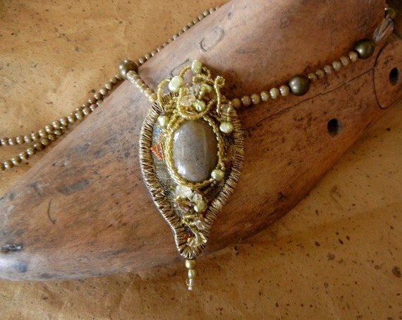 Long Yellow Jasper Necklace