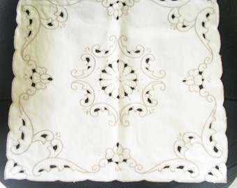 Cutwork 16 1/2 in. Square Handmade Dresser/Table Scarf