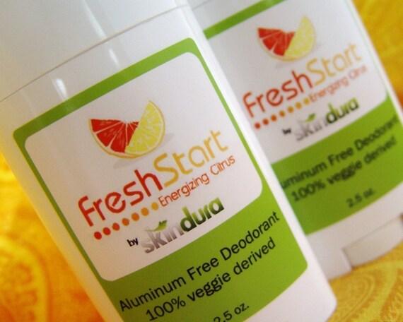 Deodorant Vegetable Derived Aluminum Free - FreshStart - Grapefruit and Lemon Tea Tree Scent
