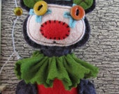 Pierrot the Clown Bear  inspired plush miniature  tenderheart  Heirloom Artist Bears Series 1 circus