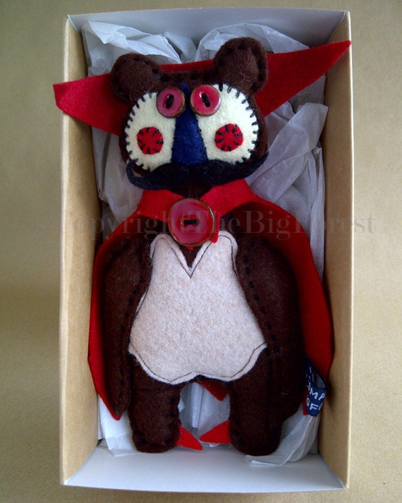 Free Uk Shipping ooak Dracula artist heirloom bear doll. Gothic goth