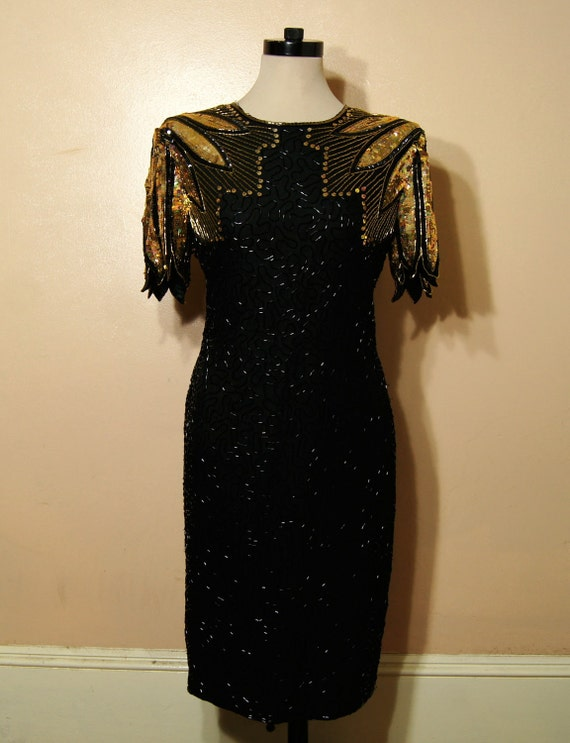 Black and gold sparkly dresses