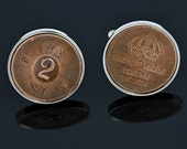 Sweden Cufflinks- 2 Ore Coin-Tails side