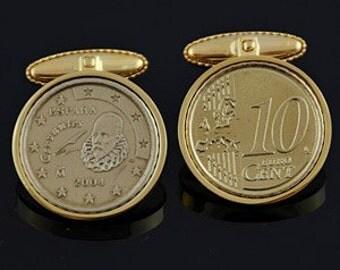 Spain 10 Cent Cufflinks