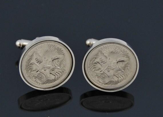 Australian gift Idea- cufflinks for men-Handmade gift - Perfect Australian present from mint Echinda coins