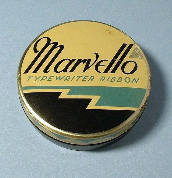 Vintage Marvello Typewriter Ribbon Tin