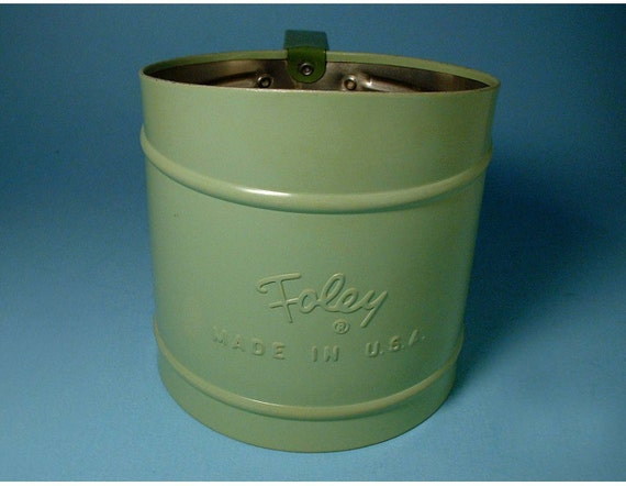 Vintage Flour Sifter in Pale Green by Foley