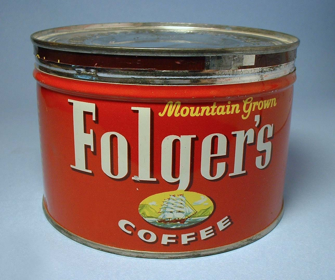 Vintage no rust folger 39 s coffee can - What are coffee cans made of ...