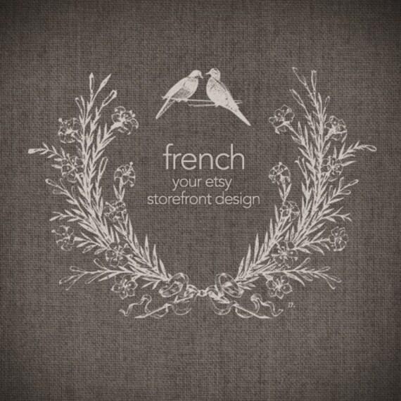 French Twenty Seven - Etsy Shop Banner Set, 6 graphics - RESERVED for whenlovehappens