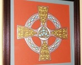 Hand Painted Celtic Cross