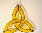 Yellow Stained Glass Trinity