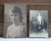TWO Antique Pictures  - Very Rustic and Old