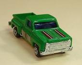 pickup truck, miniature vehicle, metal, vintage