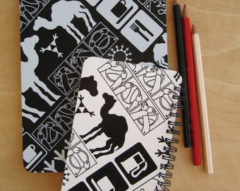 A SET of two A5 and A6 matching notebooks - GIFT PACK