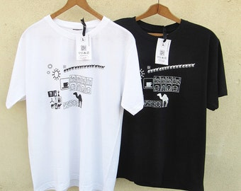 TWO unisex T Shirts, with an original TamTam print - a GIFT pack for a couple
