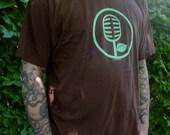 Men's / Unisex Microphone Tshirt - Brown - XLarge