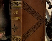 """1879 """"DON QUIXOTE"""" Antique classic, illustrated plates, Free Shipping"""