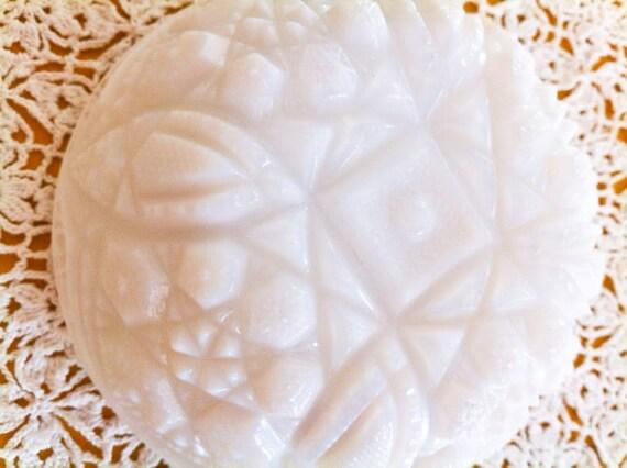 Vintage Cut Milk Glass Bowl