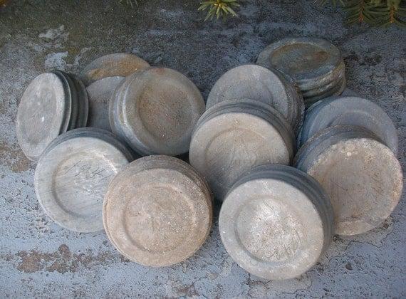 Vintage Zinc Lids for Blue Ball Mason Fruit Jars