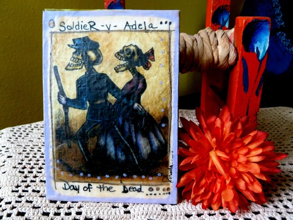 Day of the Dead Wax Art (Soldier), Dia de Los Muertos, Jose Posada, Whimsical Illustrations, Day of the Dead, Mexican Art
