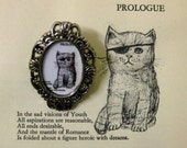 Pirate Kitty 'Prologue' Vintage Style Cameo Brooch