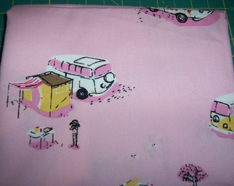 Heather Ross Lightning Bug Pink VW Van FQ