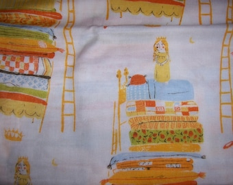 Heather Ross Gauze Far Far Away Princess and the Pea in Natural