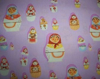 Heather Ross West Hill Lavender Matryoshka Dolls