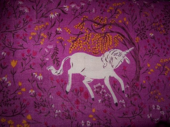 Heather Ross Far Far Away Magenta Unicorn