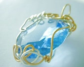 Wire jewelry Tutorial - Swirly Caged Pendant