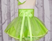 Tinker Bell inspired Dress Up Costume Apron, Half Apron style