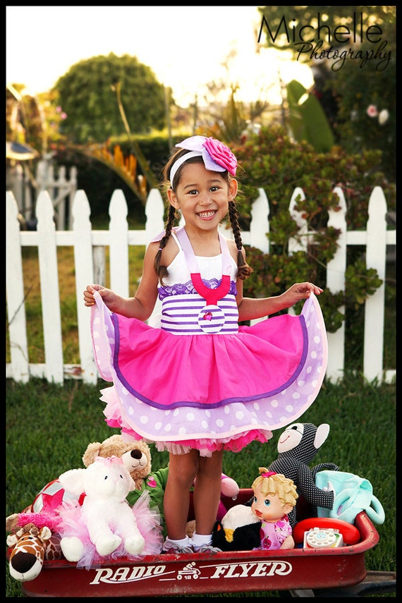 Doc McSuffins Inspired Dress Up Costume Apron...Half Apron style Made to Order