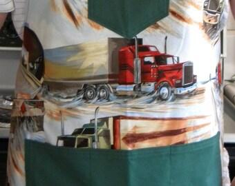 Men's BBQ Apron-Trucks